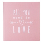 Goldbuch fotoalbum All you need roze