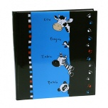 Goldbuch kinderalbum Crazy Animals blauw/zwart