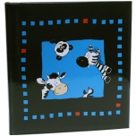 Goldbuch kinderalbum Crazy Animals zwart/blauw