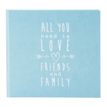 Goldbuch gastenboek All you need is Love turquoise